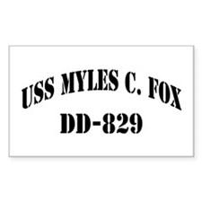 USS MYLES C. FOX Decal