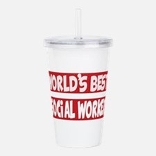 World's Best Social Wo Acrylic Double-wall Tumbler