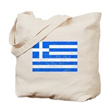 Distressed Greece Flag Tote Bag