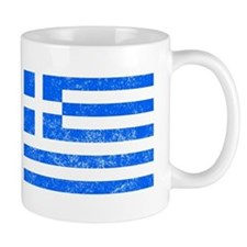 Distressed Greece Flag Mugs