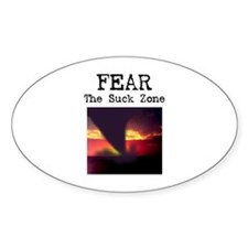 Fear the Suck Zone Oval Decal