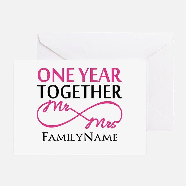 1st anniversary Greeting Card