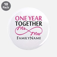 "1st anniversary 3.5"" Button (10 pack)"