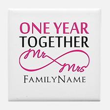 1st anniversary Tile Coaster
