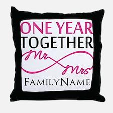 1st anniversary Throw Pillow