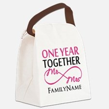 1st anniversary Canvas Lunch Bag