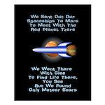 Mars Probe Small Poster