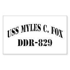 USS MYLES C. FOX Decal