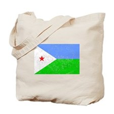 Distressed Djibouti Flag Tote Bag