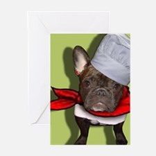 The Frenchie Chef Greeting Cards (Pk of 10)