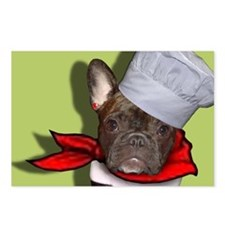 The Frenchie Chef Postcards (Package of 8)