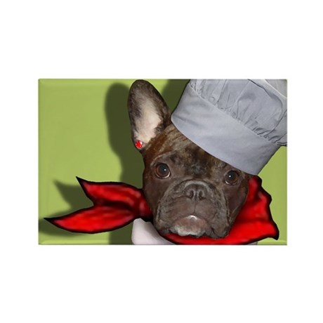 The Frenchie Chef Rectangle Magnet (10 pack)