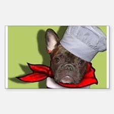 The Frenchie Chef Rectangle Decal