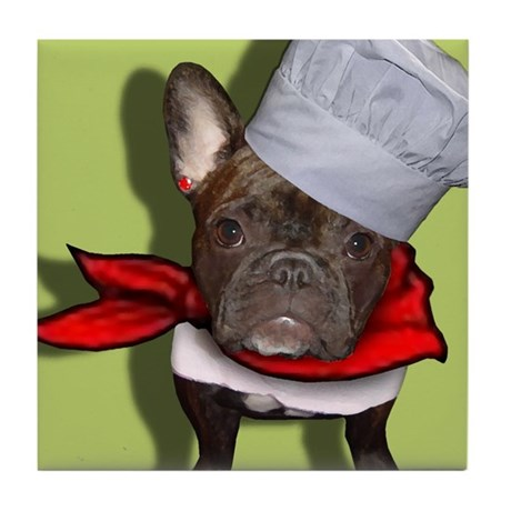The Frenchie Chef Tile Coaster