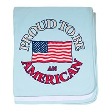 Proud to be an American baby blanket