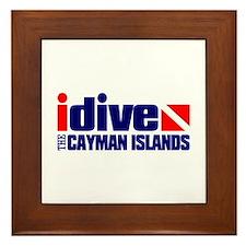 idive (Cayman Islands) Framed Tile