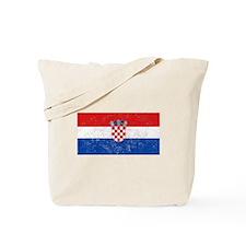 Distressed Croatia Flag Tote Bag