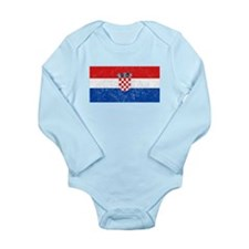 Distressed Croatia Flag Body Suit