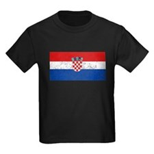 Distressed Croatia Flag T-Shirt