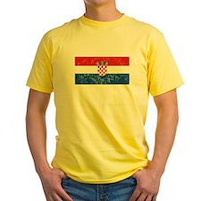 Distressed Croatia Flag T-Shirt