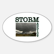 Storm Addict Oval Decal