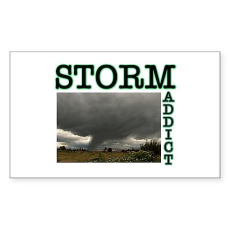 Storm Addict Rectangle Sticker