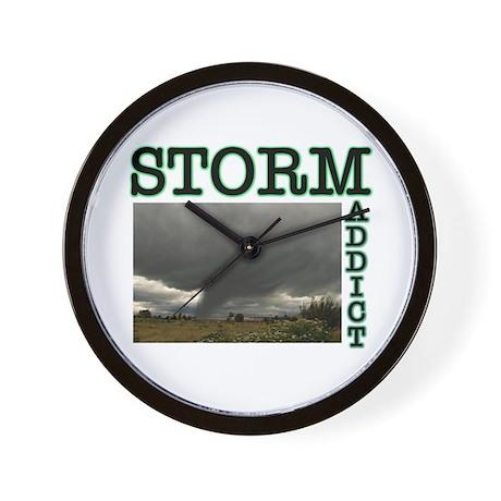 Storm Addict Wall Clock