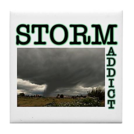 Storm Addict Tile Coaster