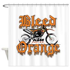 BleedOrange Shower Curtain
