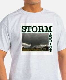 Storm Addict Ash Grey T-Shirt