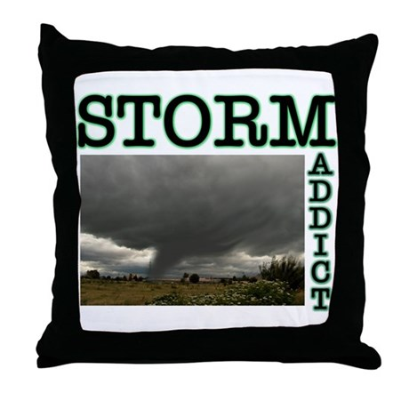 Storm Addict Throw Pillow