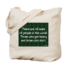 Binary and Statistics Tote Bag