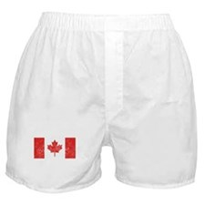 Distressed Canada Flag Boxer Shorts