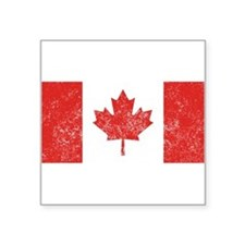 Distressed Canada Flag Sticker