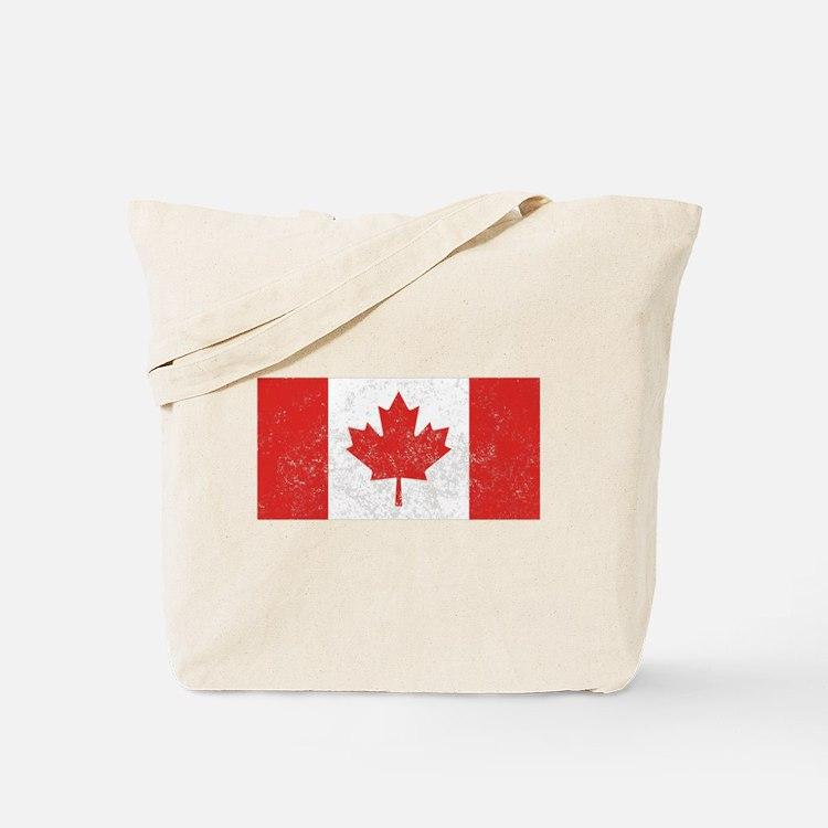 Distressed Canada Flag Tote Bag