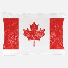 Distressed Canada Flag Pillow Case