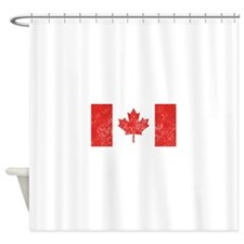 Distressed Canada Flag Shower Curtain