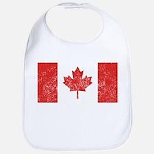Distressed Canada Flag Bib
