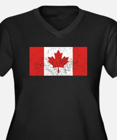 Distressed Canada Flag Plus Size T-Shirt