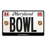 Maryland License Plate Sticker - BOWL