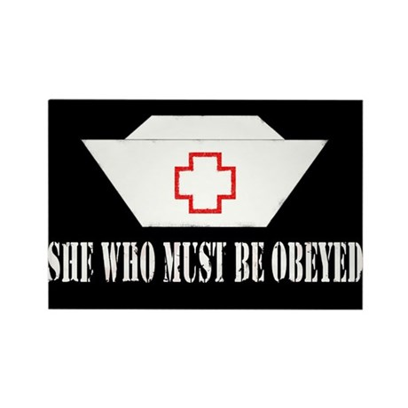 She Who Must Be Obeyed Rectangle Magnet (100 pack)