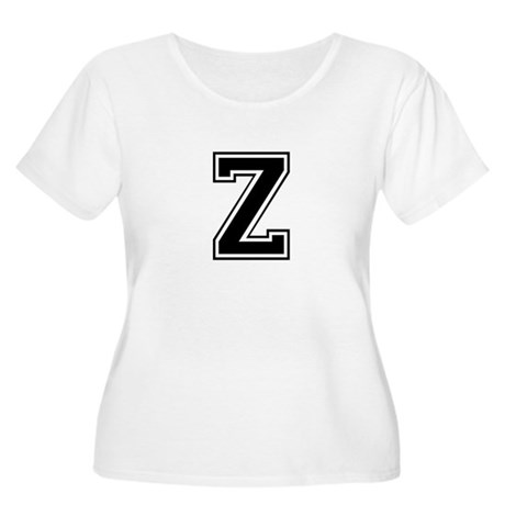 Varsity Letter Z Women's Plus Size Scoop Neck T-Sh