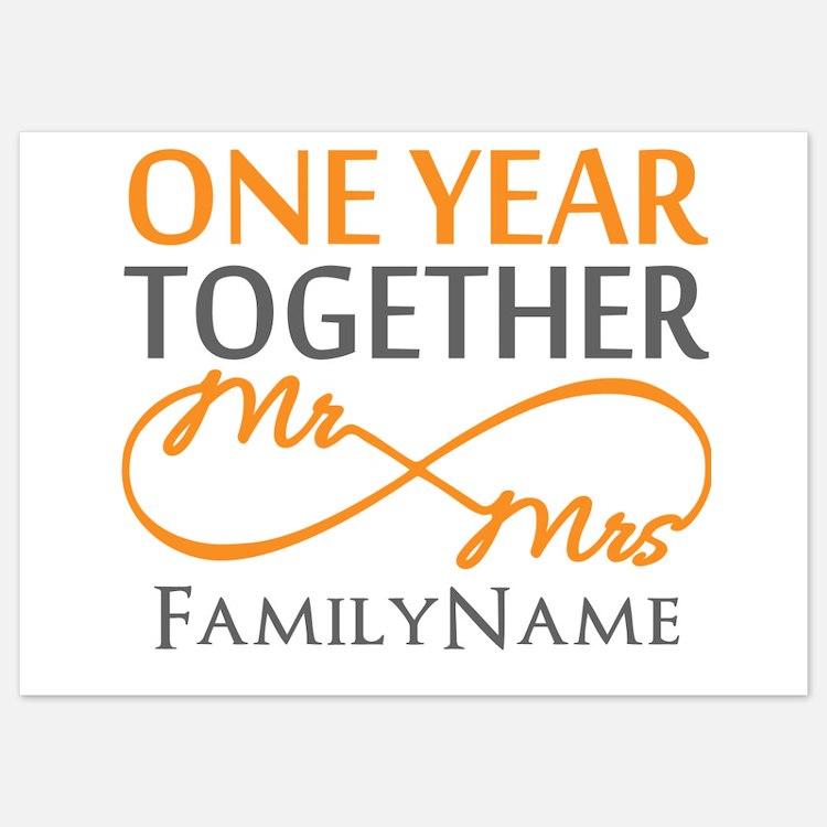 gift for 1st wedding anniversary invitations