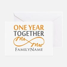 Gift For 1st Wedding Anniversary Greeting Card