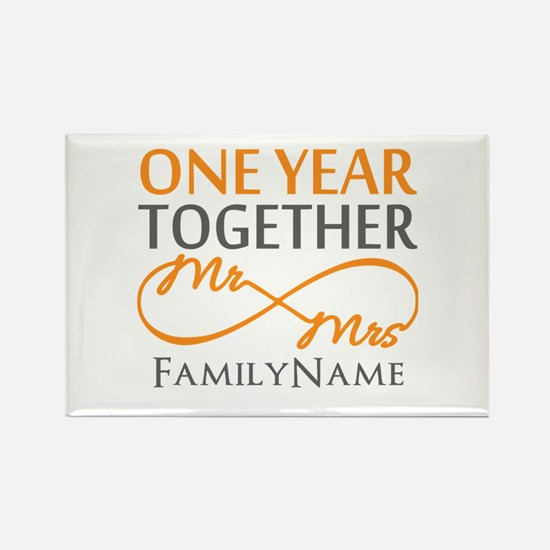Gift For 1st Wedding Anniversary Rectangle Magnet