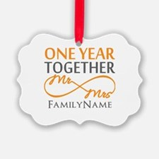 Gift For 1st Wedding Anniversary Ornament