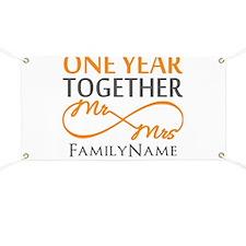 Gift For 1st Wedding Anniversary Banner
