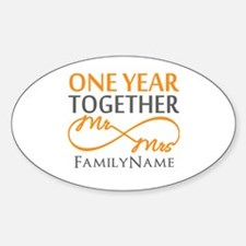 Gift For 1st Wedding Anniversary Decal
