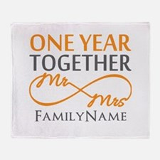 Gift For 1st Wedding Anniversary Throw Blanket