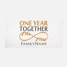 Gift For 1st Wedding Anniversary Beach Towel